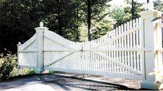 16' wide scalloped Chestnut Hill driveway gate