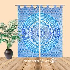 Those amazing bohemian mandala curtains will bring bright energy to your room. They are block printed using vegetable dyes on organic cotton canvas.