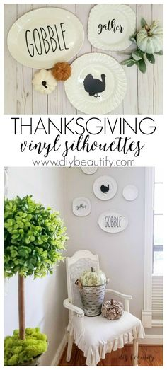 Temporary Thanksgiving silhouettes for your home decor! See more at diy beautify!