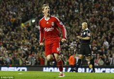 Fernando Torres scored twice for Liverpool and came close to grabbing a hat-trick Liverpool Football Club, Liverpool Fc, Manchester City, Manchester United, Nicklas Bendtner, Michael Owen, Arsenal Players, Blackburn Rovers, Fernando Torres