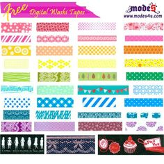 39 digital Washi Tape background - #Free #download #printable for scrapbooking embellishment from modes4u.com  great site!