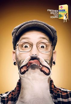 Publicité - Creative advertising campaign - Pedigree: Fresher breath than yours
