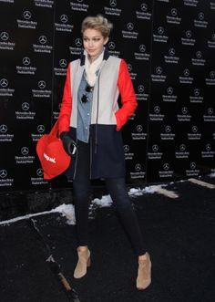 Model Gigi Hadid Fashion Week photos mercedes benz Celebrity