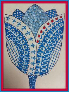 Minimoek: Blue doodle!!! Zentangle Drawings, Zentangle Patterns, Zentangles, Tangle Doodle, Doodle Art, Scandinavian Folk Art, Free Hand Drawing, Concrete Art, Heart Art