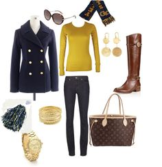 """""""Cold weather GT game""""   READY FOR FALL!!!  Georgia Tech game day women's outfit ideas"""