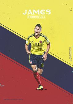 James Rodriguez, Colombia - Mundial Brasil 2014 - Brazil World Cup 2014. KEY PLAYERS by Giuseppe Vecchio Barbieri