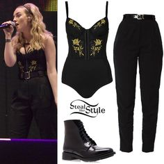 Perrie Edwards: Embroidered Body Outfit | Steal Her Style