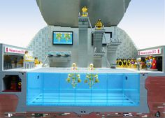 London 2012 Olympics Aquatic Center Diving Pool designed by Artist Gary Davis