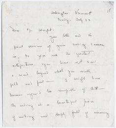 Eleven letters written between Dorothy Canfield Fisher and Richard Wright and an untitled, typed essay by Dorothy Canfield Fisher found in the Richard Wright Papers, Yale Collection of American Literature, Beinecke Rare Book and Manuscript Library.