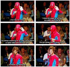 Andrew Garfield - The Amazing Spider-Man @ 2011 SD Comic Con