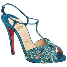 All You Need is Love And Christian Louboutin Margi Diams 120mm Sandals Turquoise EKX!