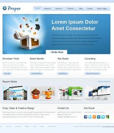 Ct Proper Free Template Your It Company Css Templates Jquery Slider