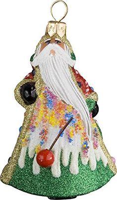 Glitterazzi Mini Candy Santa Ornament by Joy to the World