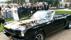 Our Shelby GT350 convertible Mustang on Kira and Chris's wedding day