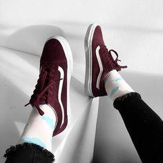 Sneakers women - Vans Old Skool burgundy (©endzel_)