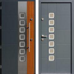 Drzwi wejściowe z aplikacjami inox model 455,2-455,12+ds1 w kolorze ral 7004