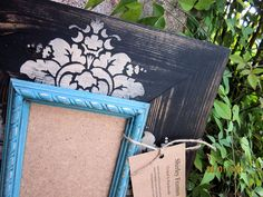 4x6 Distressed Picture Frame Black / Linen / by ShirleyFrames
