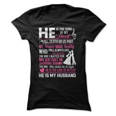 He is ᐂ my HusbandGet this tee if you really love your Husband!He is my Husband, husband, hubby, heart, lover, half, love, cupid, valentine, knight, love of my life