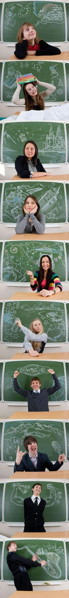 I would do this to my chalkboard wall that i already have... Its a cool idea :))