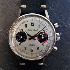 Vintage Mens 1960s Astrée Chronograph Blue Dial Watch - £600.00 Save The Pandas, Retro Watches, Watch Sale, Chronograph, 1960s, Blue, Accessories, Vintage, Watches