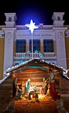 Christmas at Tripoli, Arcadia, Greece Christmas In Greece, Greek Christmas, Christmas Lights, Christmas Holidays, Christmas Stuff, Christmas Tree, Greece Photography, Christmas Wonderland, Wallpaper App
