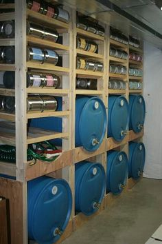 I like the shelves and the 55 gallon drums. I might have to incorporate this into my storage system.
