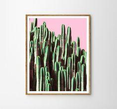 Cactus Tropical plant Cactus art Modern art Wall por WallArt2Decor