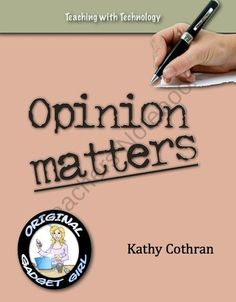 Opinion Matters: Writing Opinions and Reviews at the Elementary Level product from Teaching-with-Technology on TeachersNotebook.com