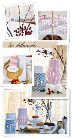 Winterliche Tischdeko - BRIGITTE.de - Papierlaternen mit Muster.