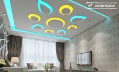 pop design for room, colored led ceiling lights for living room