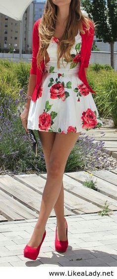 vestido floreado para cuando te sentis alegre
