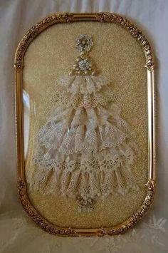 Lace Christmas tree