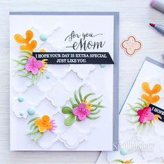 Spellbinders   Mother's Day Card with Succulent Garden Dies.