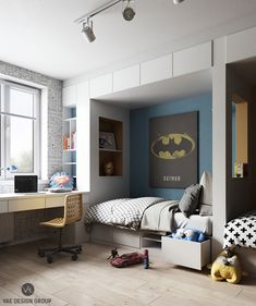 Amazing Apartment With Superhero Bedroom Theme