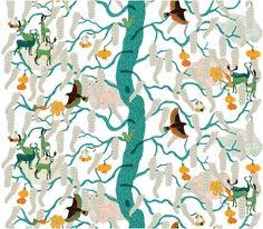 """Tyg """"Yggdrasil"""" från Arvidssons textil"""