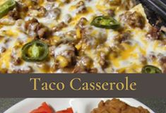 Cowboy Casserole - healthy kitchen Spinach Stuffed Mushrooms, Spinach Stuffed Chicken, Creamed Mushrooms, Stuffed Peppers, Cowboy Casserole, Hamburger Casserole, Atkins Recipes, Cooking Recipes, Healthy Chicken