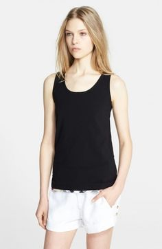 Burberry Women's Brit Stretch Cotton Scoop Neck Tank | Top and Clothing