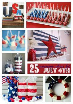 The 25 Cutest Patriotic Crafts and Recipes Ever! #Birando #4thofJuly