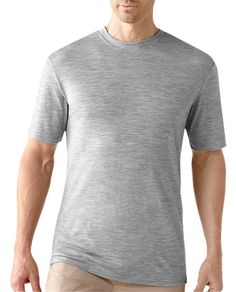 Smartwool Mens SS Crew Tee - Silver Grey Heather