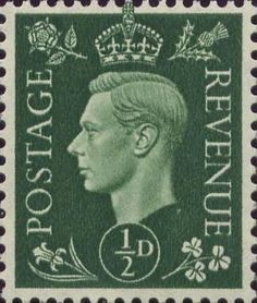 Definitives 0.5d Stamp (1937) Green