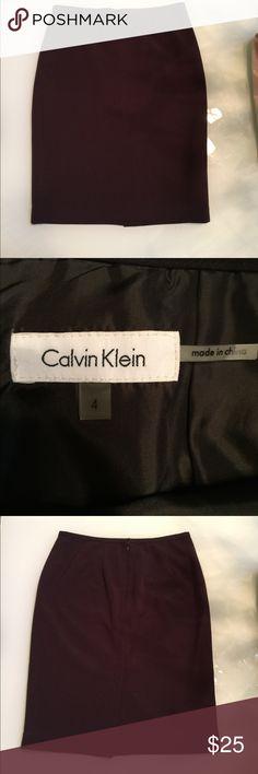 Calvin Klein black skirt 4 Pencil cut..good condition Calvin Klein Skirts Pencil