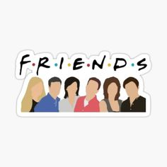 Bubble Stickers, Cool Stickers, Printable Stickers, Laptop Stickers, Tv: Friends, Friends Series, Friends Sketch, Drawings Of Friends, Friends Poster
