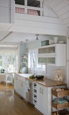 white kitchen galley