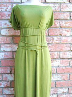 Maxi Dress Womens Clothing  Knit Tie Belt  in by FineThreadz, $120.00