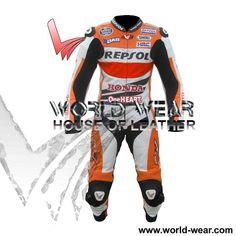 Honda Repsol Marc Marquez MotoGp 2014 Motorbike Leather Suit