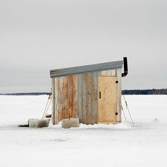 This gorgeous gallery of Canadian ice-fishing huts will have you reeling…