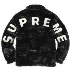 Supreme Faux Fur Bomber Jacket ❤ liked on Polyvore featuring outerwear, jackets, blouson jacket, flight jacket, faux fur jacket, bomber jacket and bomber style jacket