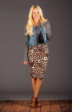 Leopard Pencil Skirt! | Jane