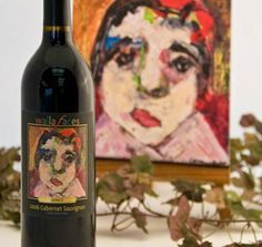 Walla Faces 2006 Cabernet Sauvignon.  Original art by Candice Johnson.