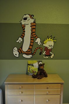 My nephew's Calvin and Hobbes-themed nursery